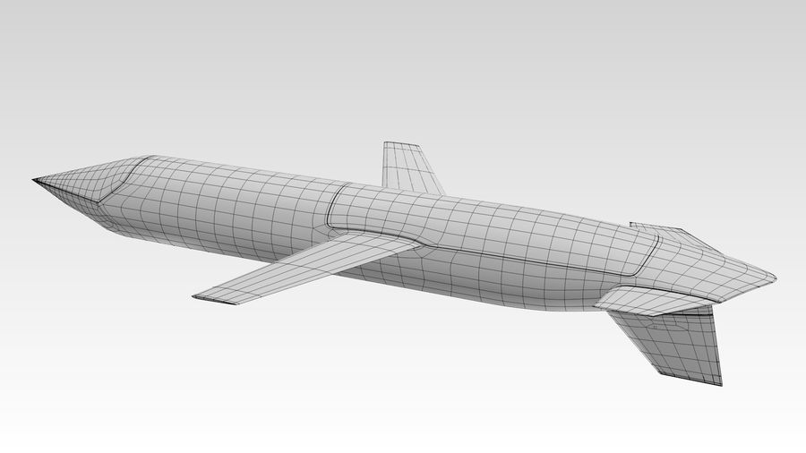 AGM-129 royalty-free 3d model - Preview no. 2