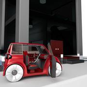 Compact electric concept car 9 v3 3d model