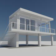 Modern Miniature House 1 - Mini Prefab Building 3d model