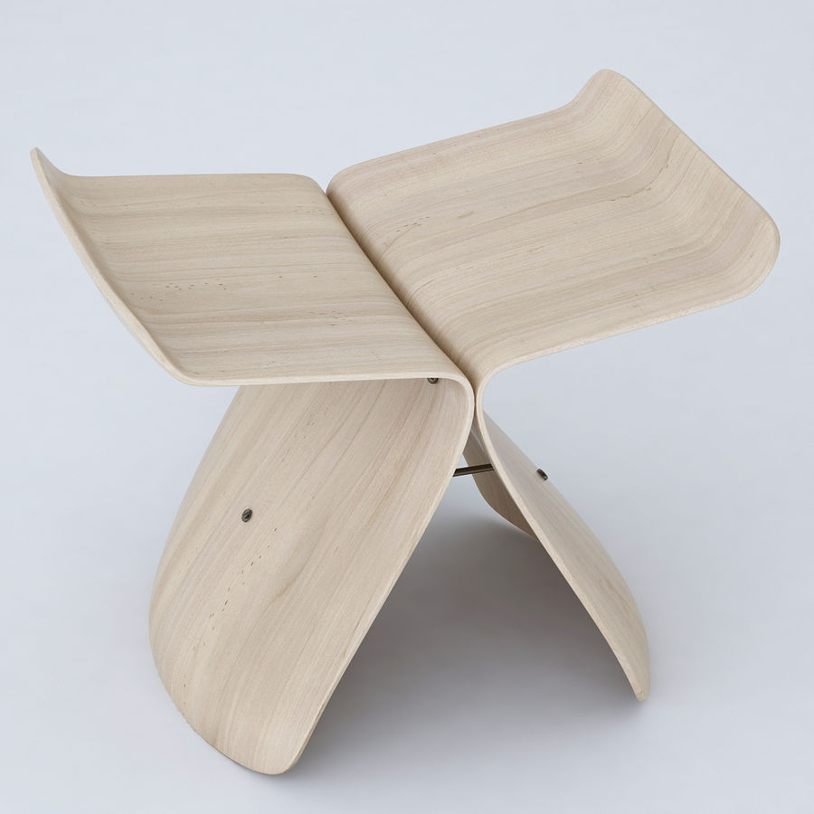 Vitra Butterfly Stool royalty-free 3d model - Preview no. 1