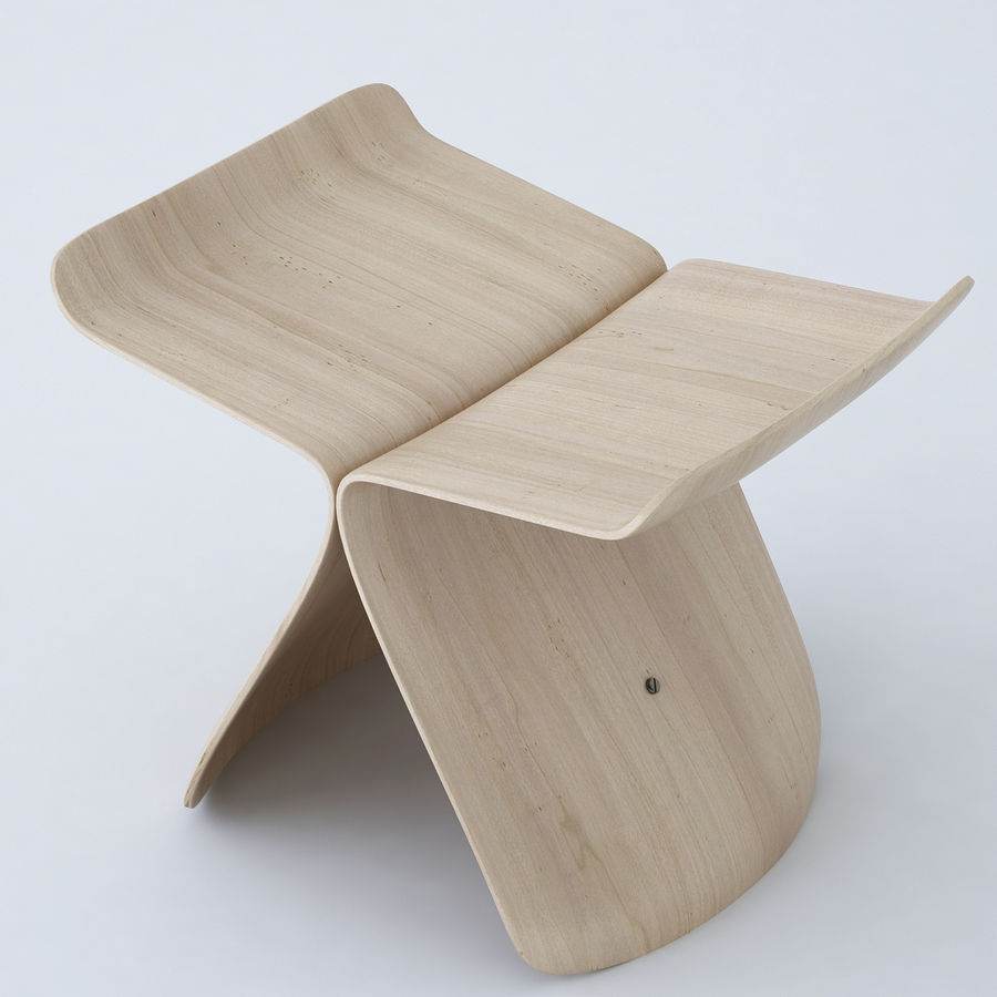 Vitra Butterfly Stool royalty-free 3d model - Preview no. 7