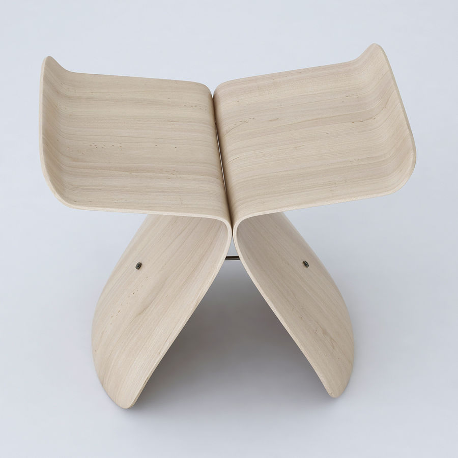 Vitra Butterfly Stool royalty-free 3d model - Preview no. 3