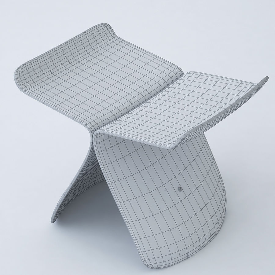 Vitra Butterfly Stool royalty-free 3d model - Preview no. 8