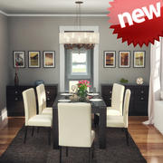 Dining room interior 3d model
