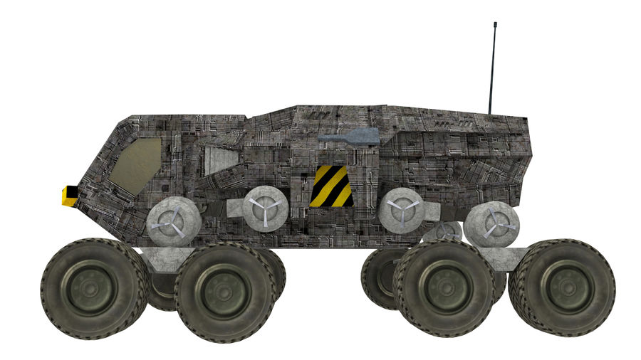 scifi vehicle royalty-free 3d model - Preview no. 4