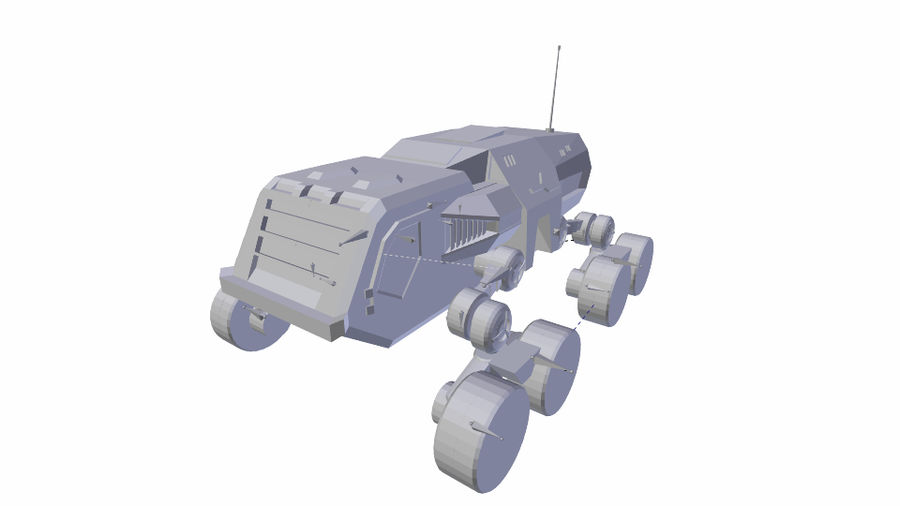 scifi vehicle royalty-free 3d model - Preview no. 10