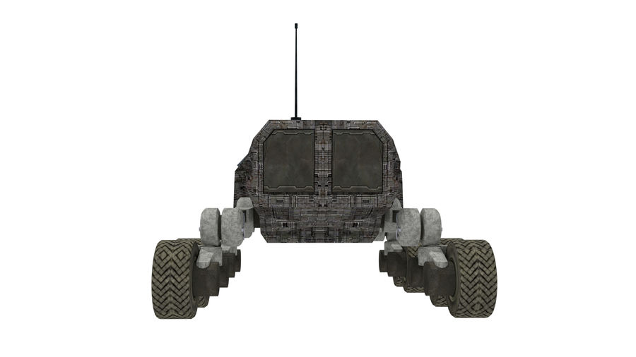 scifi vehicle royalty-free 3d model - Preview no. 5