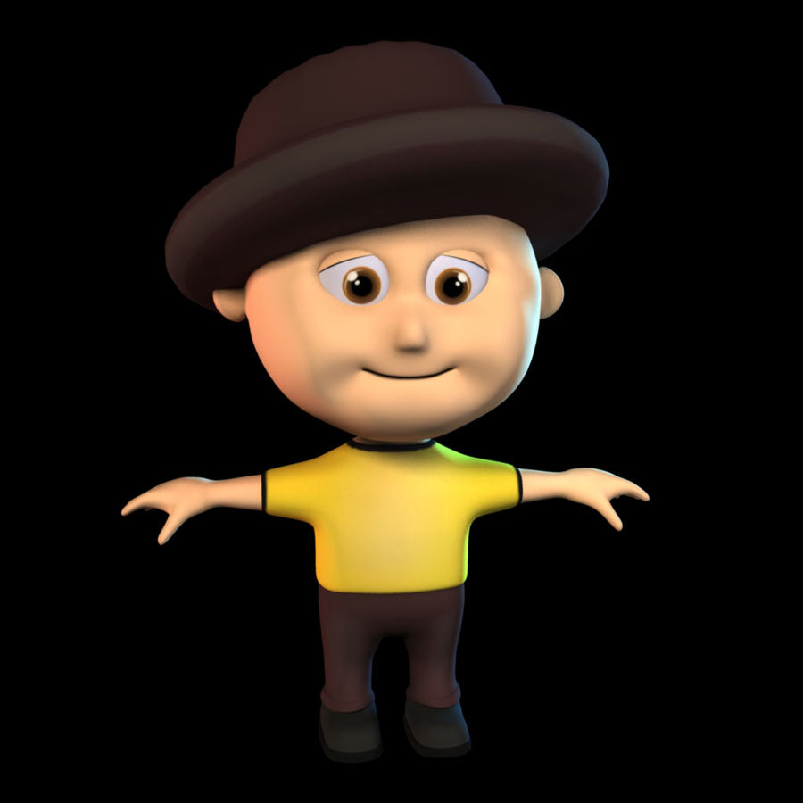 Cartoon Boy royalty-free 3d model - Preview no. 1