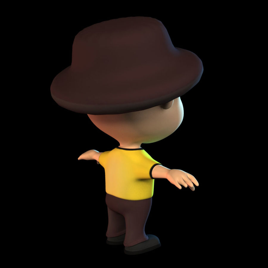 Cartoon Boy royalty-free 3d model - Preview no. 2