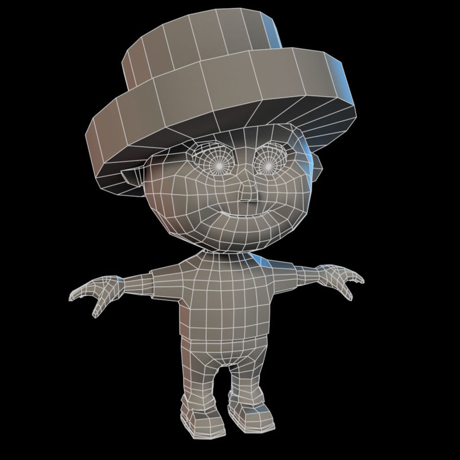 Cartoon Boy royalty-free 3d model - Preview no. 9