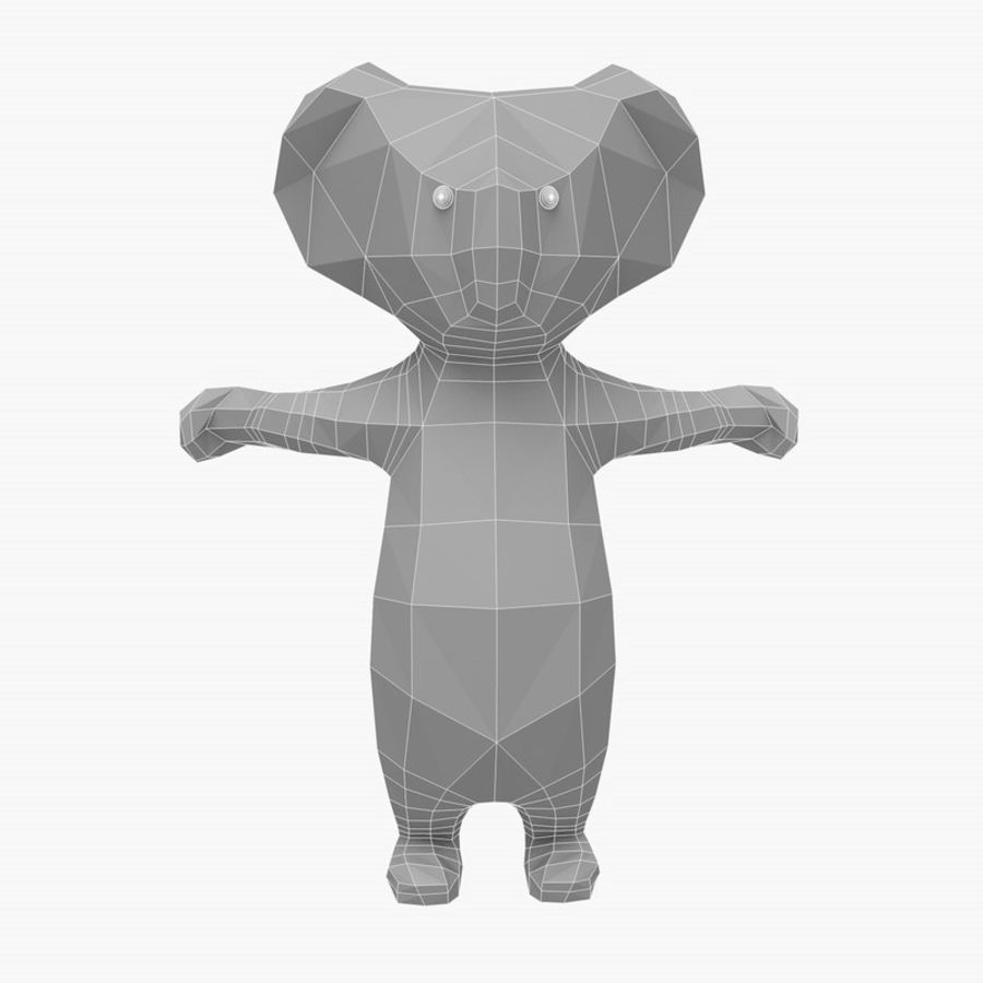 Tecknad Koala royalty-free 3d model - Preview no. 4