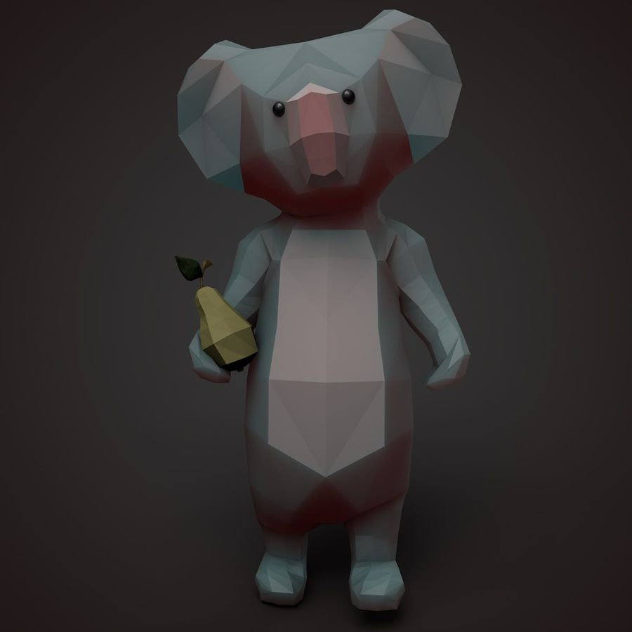Tecknad Koala royalty-free 3d model - Preview no. 2