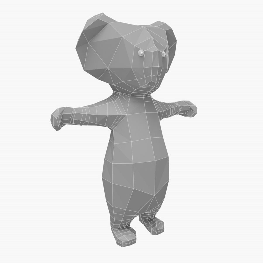 Tecknad Koala royalty-free 3d model - Preview no. 5