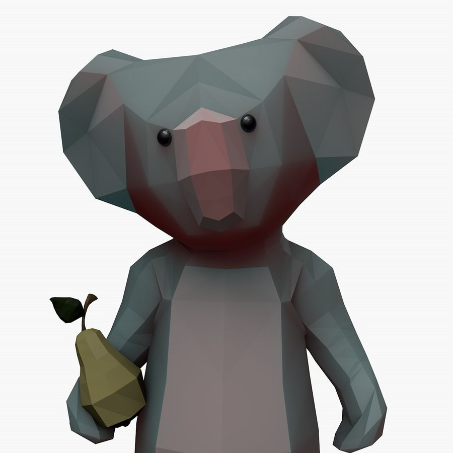 Tecknad Koala royalty-free 3d model - Preview no. 1