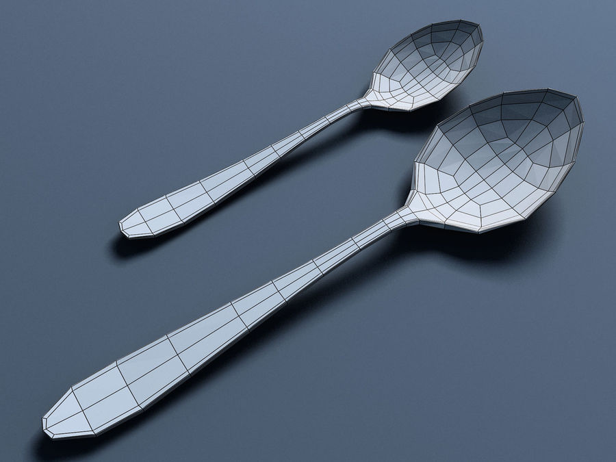 Spoons A royalty-free 3d model - Preview no. 9
