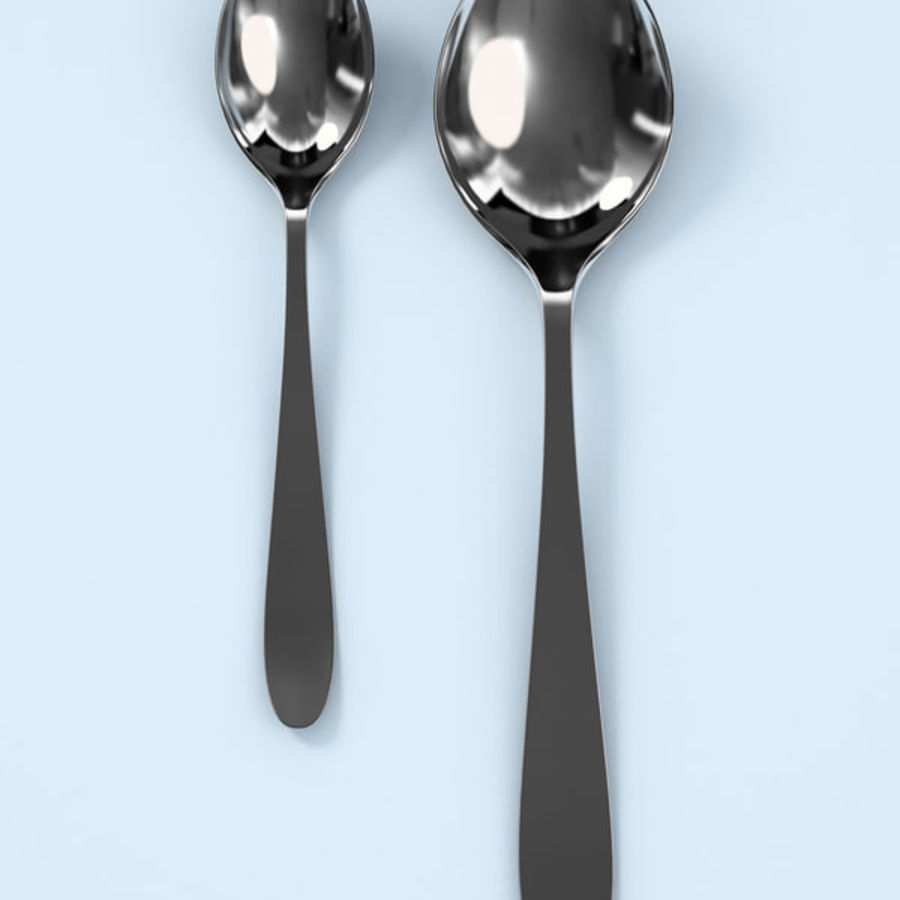 Spoons A royalty-free 3d model - Preview no. 1