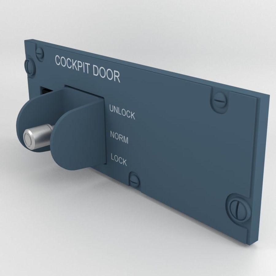 Cockpit Door Control Panel royalty-free 3d model - Preview no. 2