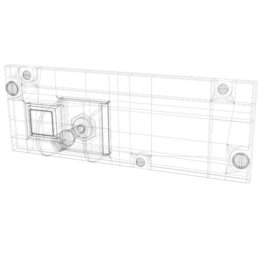 Cockpit Door Control Panel royalty-free 3d model - Preview no. 6
