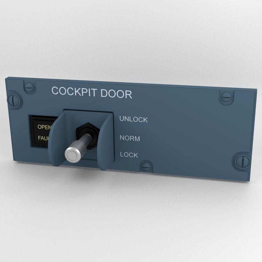 Cockpit Door Control Panel royalty-free 3d model - Preview no. 1
