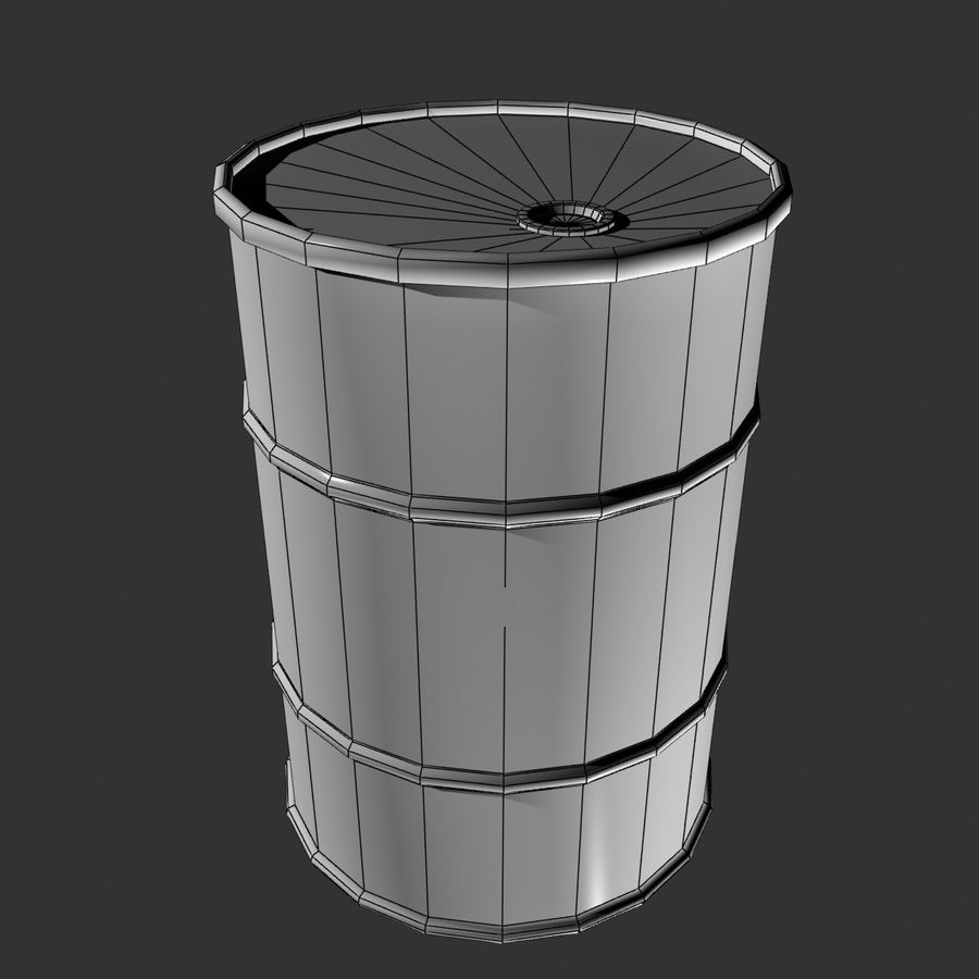 Red Barrel royalty-free 3d model - Preview no. 8