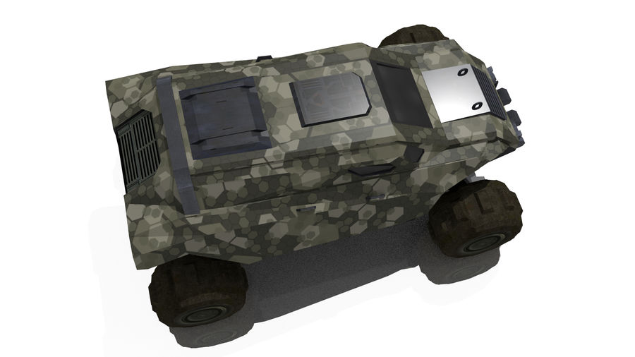 Sci-fi Vehicle royalty-free 3d model - Preview no. 5