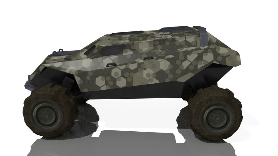 Sci-fi Vehicle royalty-free 3d model - Preview no. 6