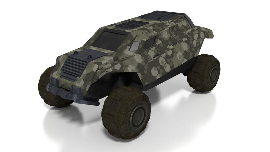 Sci-fi Vehicle royalty-free 3d model - Preview no. 1