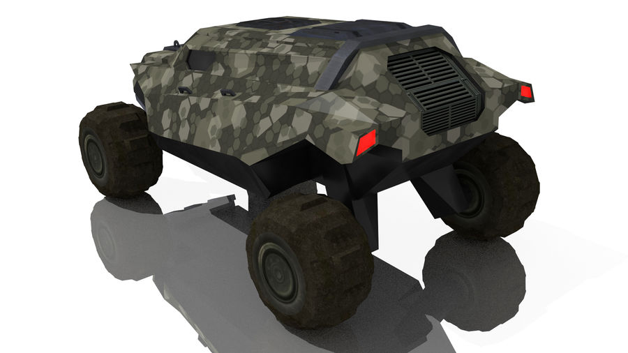 Sci-fi Vehicle royalty-free 3d model - Preview no. 4