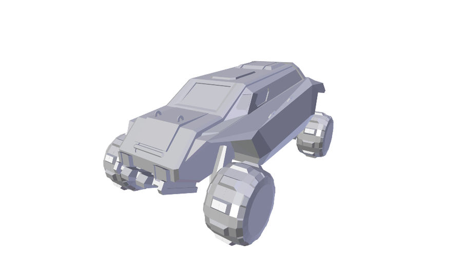 Sci-fi Vehicle royalty-free 3d model - Preview no. 9
