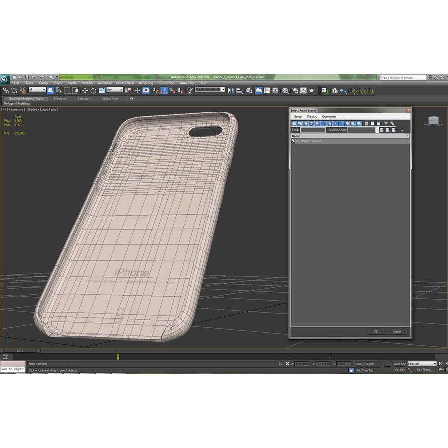 capa de couro do iPhone 6 rosa royalty-free 3d model - Preview no. 23
