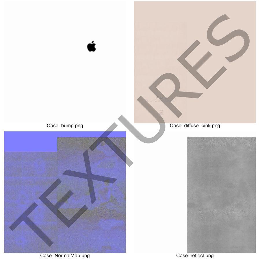 capa de couro do iPhone 6 rosa royalty-free 3d model - Preview no. 22