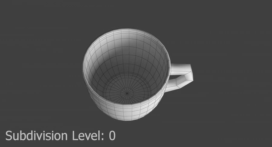 Kahve fincanı royalty-free 3d model - Preview no. 10