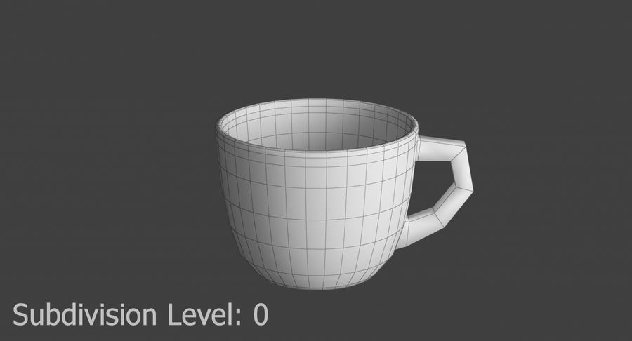 Kahve fincanı royalty-free 3d model - Preview no. 7