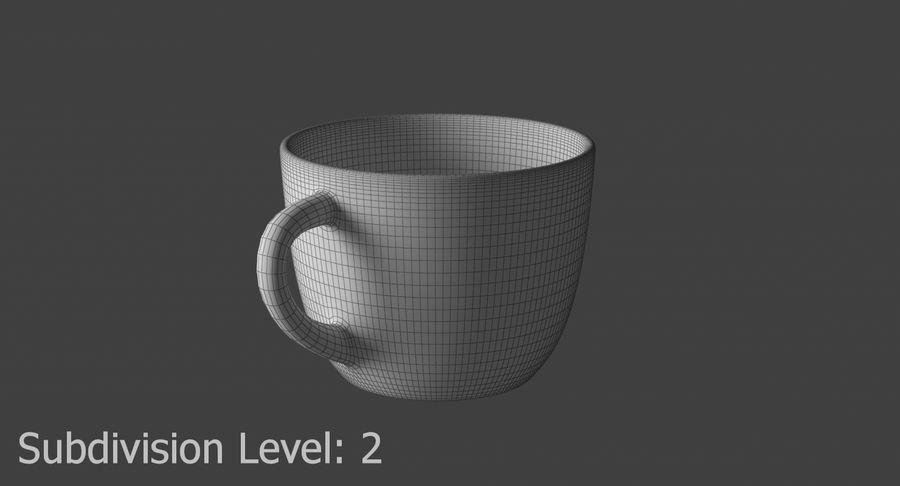 Kahve fincanı royalty-free 3d model - Preview no. 14