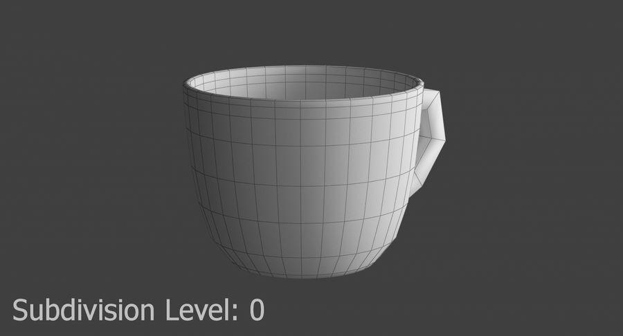 Kahve fincanı royalty-free 3d model - Preview no. 8