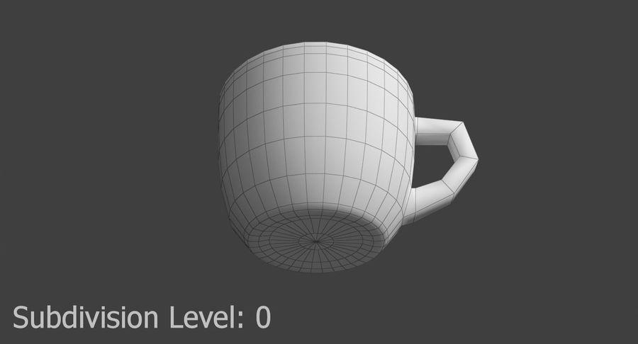 Kahve fincanı royalty-free 3d model - Preview no. 11