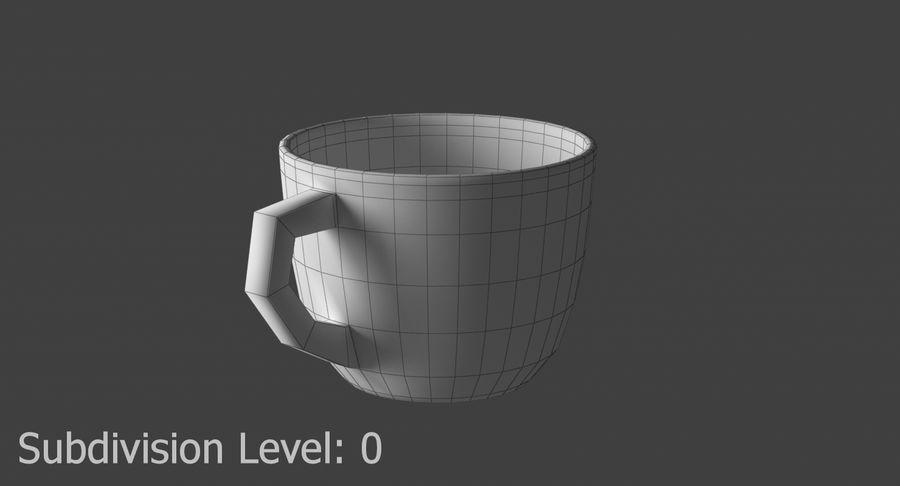 Kahve fincanı royalty-free 3d model - Preview no. 9