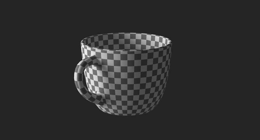 Kahve fincanı royalty-free 3d model - Preview no. 19