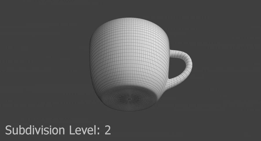 Kahve fincanı royalty-free 3d model - Preview no. 16