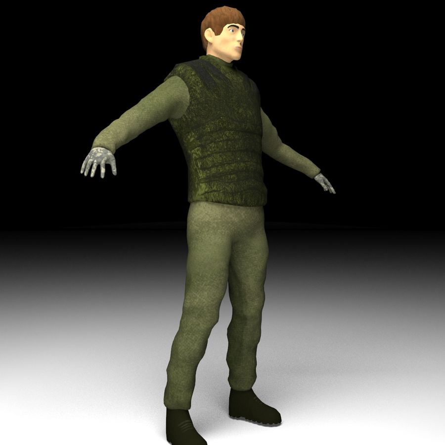 military character 3d model 1 oth max free3d