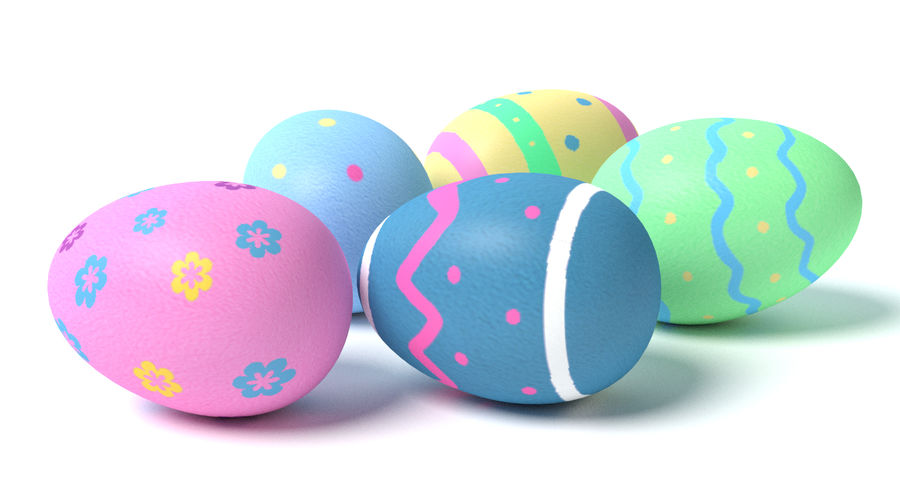 Easter Eggs royalty-free 3d model - Preview no. 3