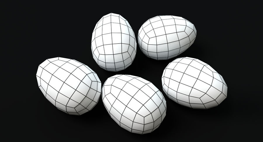 Easter Eggs royalty-free 3d model - Preview no. 5