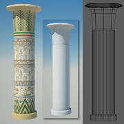 egyptian column 6 3d model