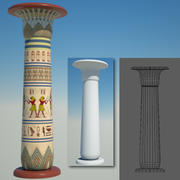 egyptian column 3d model