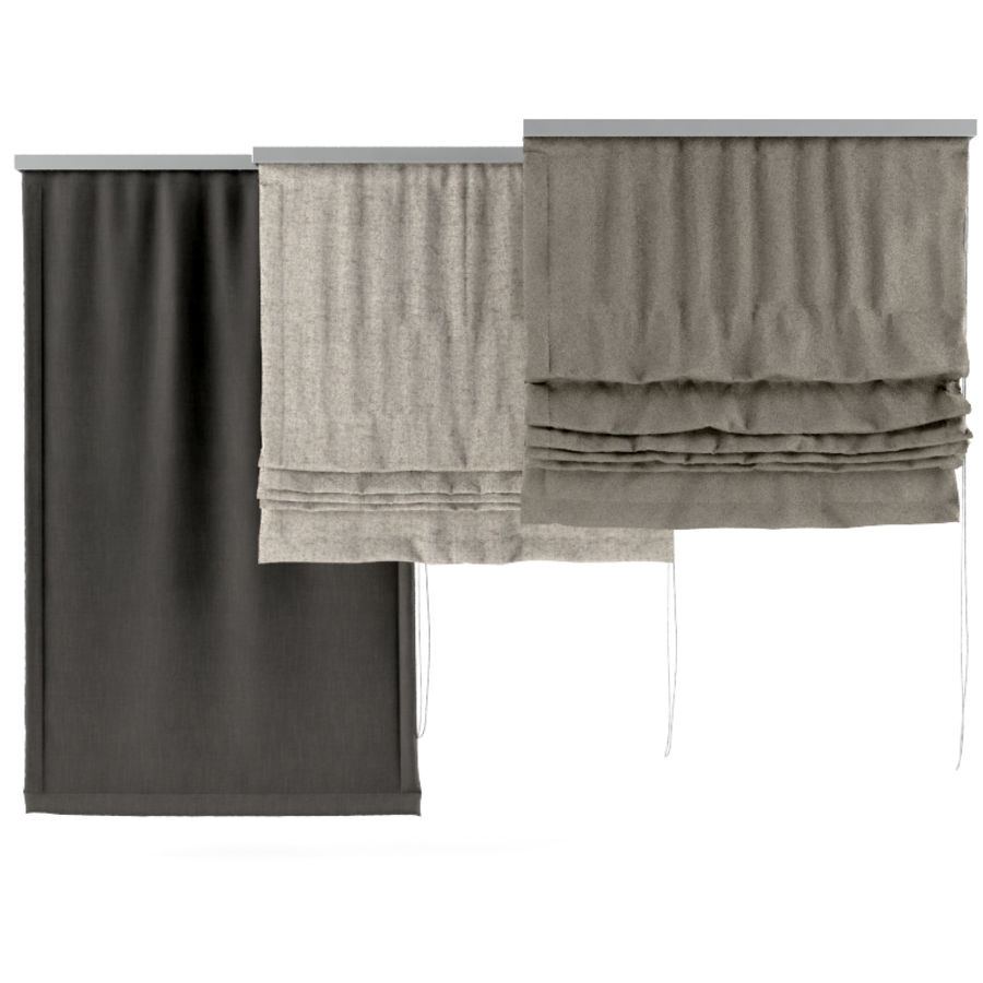 Roman Blinds royalty-free 3d model - Preview no. 1