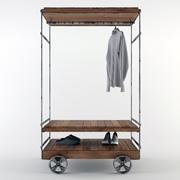 Rolling Garment Rack / Almira 3d model