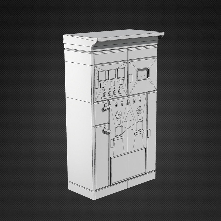 Switchboards royalty-free 3d model - Preview no. 9