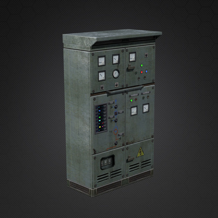 Switchboards royalty-free 3d model - Preview no. 6