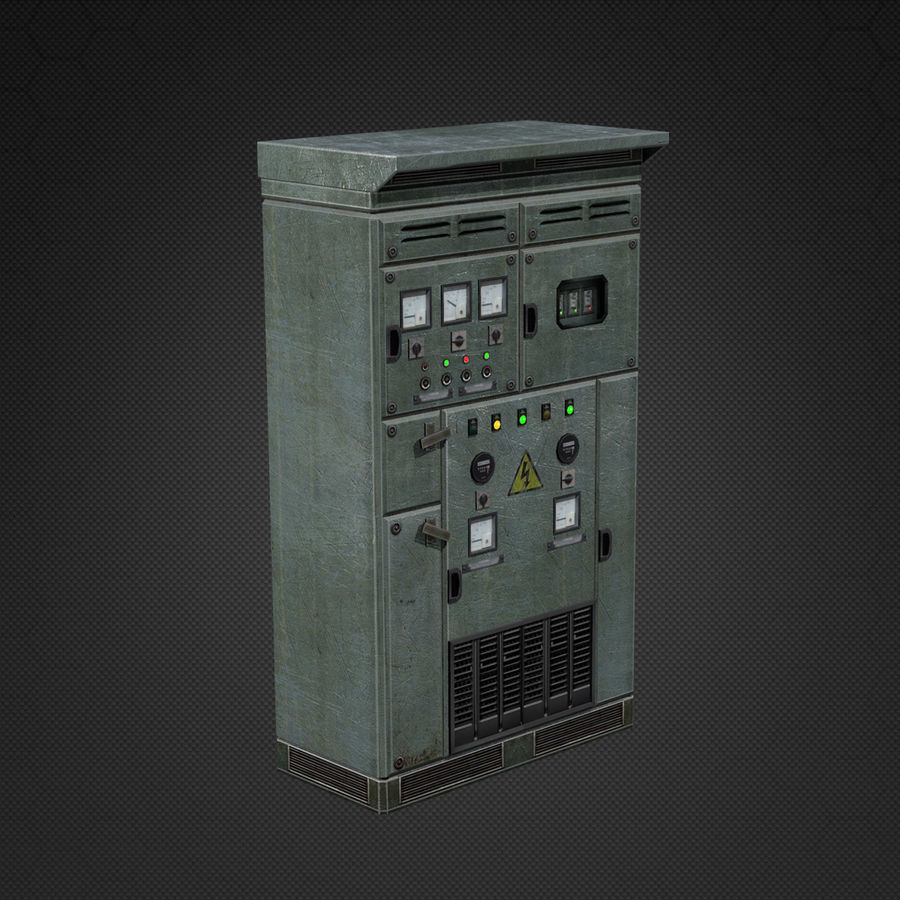 Switchboards royalty-free 3d model - Preview no. 8