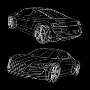 Spline Car by dddfantast 3d model